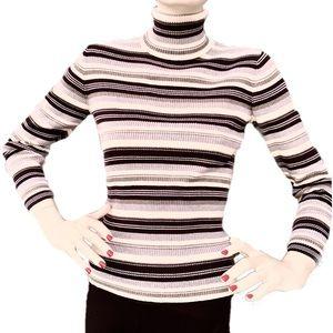 Relativity Black Ribbed Knit Turtleneck Sweater